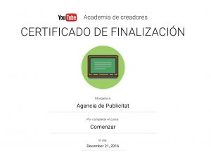 AgenciadePublicitat.cat sóm especialistes en Youtube.